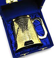 Кружка бронзовая позолоченная (h-11 см)(15х15х11 см)(Velvet Box Beer Mug Big)