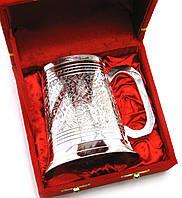 Кружка бронзовая посеребренная (h-11 см)(15х15х11 см)(Velvet Box Beer Mug Big)