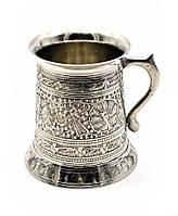 Кружка бронзовая хром 0,5 л. (12х11х11 см)(Beer Mug Heavy)