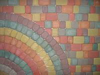 """Тротуарная плитка """"Римский камень"""", цветной, 30 мм"""