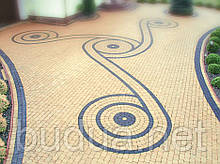 """Тротуарна плитка """"Римський камінь"""", кольоровий, 40 мм"""