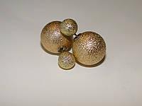 Сережки двойные шарики Dior