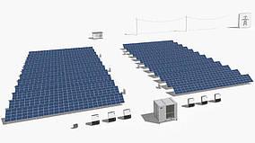 Промышленная сетевая солнечная станция под Зеленый тариф мощностью = 100 кВт/ч