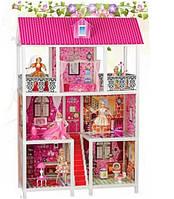 Игрушечный кукольный домик 66885 с мебелью