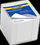 Блок бумаги для заметок 90х90х90 мм, белый, не склеенный, фото 2