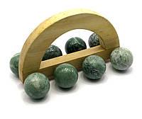 """Массажер нефрит """"8 шаров"""" (15,5х8,5х8,5 см)"""