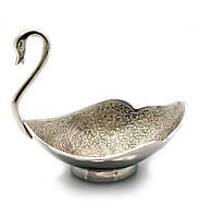 "Менажница ""Лебедь"" хром (17х14,5х10,3 см)(Chuniya Nkl)"
