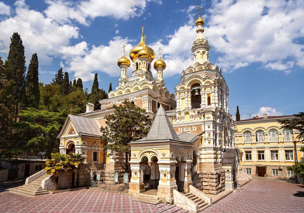 Пазлы Собор Александра Невского, Ялта на 500 элементов