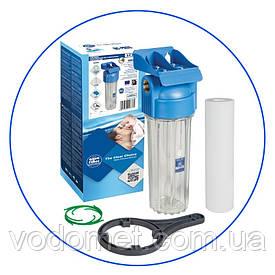 """FHPR12-HP1 Фільтр 10"""" прозорий, синя крышка, 1/2"""", підвищена стійкість на тиск"""