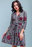 Расклешенное кежуал платье женское 3215, фото 2