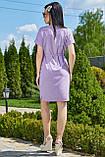 Ніжне бузкове літнє плаття вільного покрою 3507, фото 4