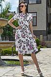 Женственное летнее платье с цветочным принтом 3523, фото 2