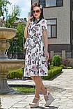 Женственное летнее платье с цветочным принтом 3523, фото 3