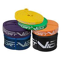 Эспандер-петля (резина для фитнеса и спорта) SportVida Power Band 6 шт 0-46 кг SV-HK0190-3