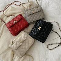 Женская сумочка клатч бежевая