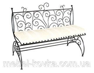 Кований диван з фігурною спинкою 10(з м'яким сидінням)