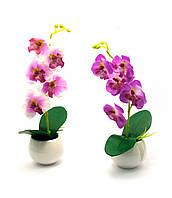 Орхидея искуственная в горшке (28х7х7 см)(A-07)