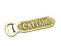 Открывашка для бутылок бронза (Captain) (14х4,5х0,3 см)