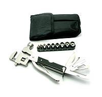 Нож разводной ключ с набором инструментов  (17 в 1)
