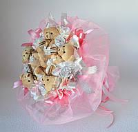 Букет з ведмедиків і цукерок, фото 1