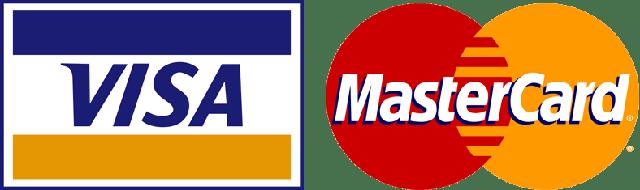 Логотипи Visa та MasterCard