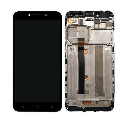 Дисплей (экран) для Asus ZenFone 3 Max (ZC553KL) 5.5 X00DDB с сенсором (тачскрином) и рамкой черный Оригинал, фото 2