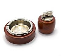 Подарочный набор (Пепепельница с зажигалкой)(BR-05T)(19х16,5х4,5 см)