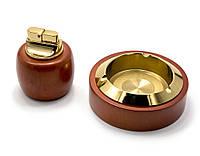 Подарочный набор (Пепепельница с зажигалкой)(BR-06T)