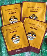 Восстанавливающая тканевая маска для лица с принтом тигра Bioаqua Animal Tiger Supple Mask