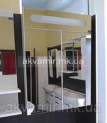 Зеркальный шкаф в ванную Николь 60 см с подсветкой S-серия
