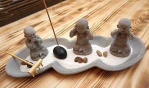 Настольный сад камней Три монаха