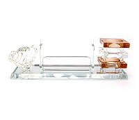 Подставка для ручки и визиток стекло (22х7х6,5 см)(BT028)