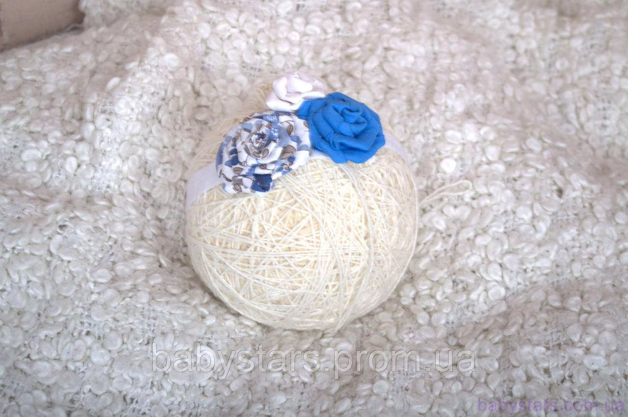 Повязка «Розочки» синяя