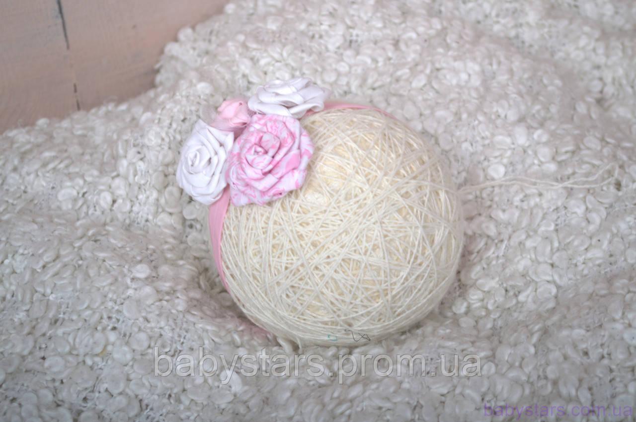 Повязка для девочек «Розочки», розовая
