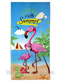 "Пляжное полотенце ""Hello Summer"" 70х140см."