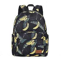 Рюкзак стильный школьный с бананами, фото 1