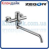Смеситель для ванны длинный Zegor SAP7-A