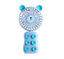 Міні-вентилятор для телефону з функцією підсвічування і підставки