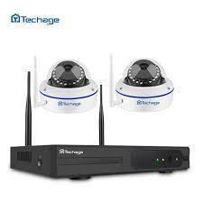 Комплект WiFi видеонаблюдения Techage 2CH 720P (K2H-1MP-IP)