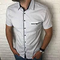451413eb4cf827d Рубашка мужская классическая M, L, XL, XXL короткий рукав. Турция.  Молодежная