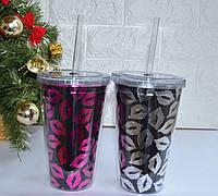Стильный стакан для коктейлей с трубочкой., фото 1