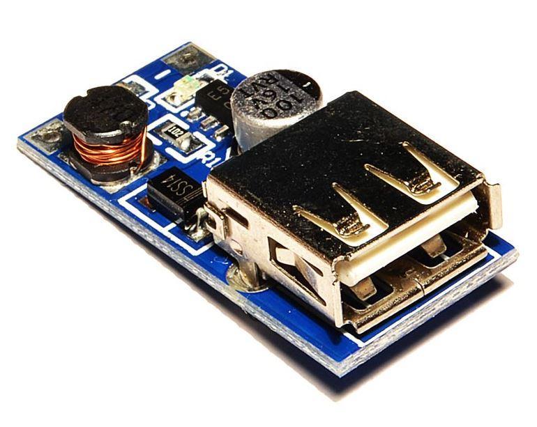 Повышающий преобразователь напряжения DC-DC 0,9-5.0B до 5В 600mA