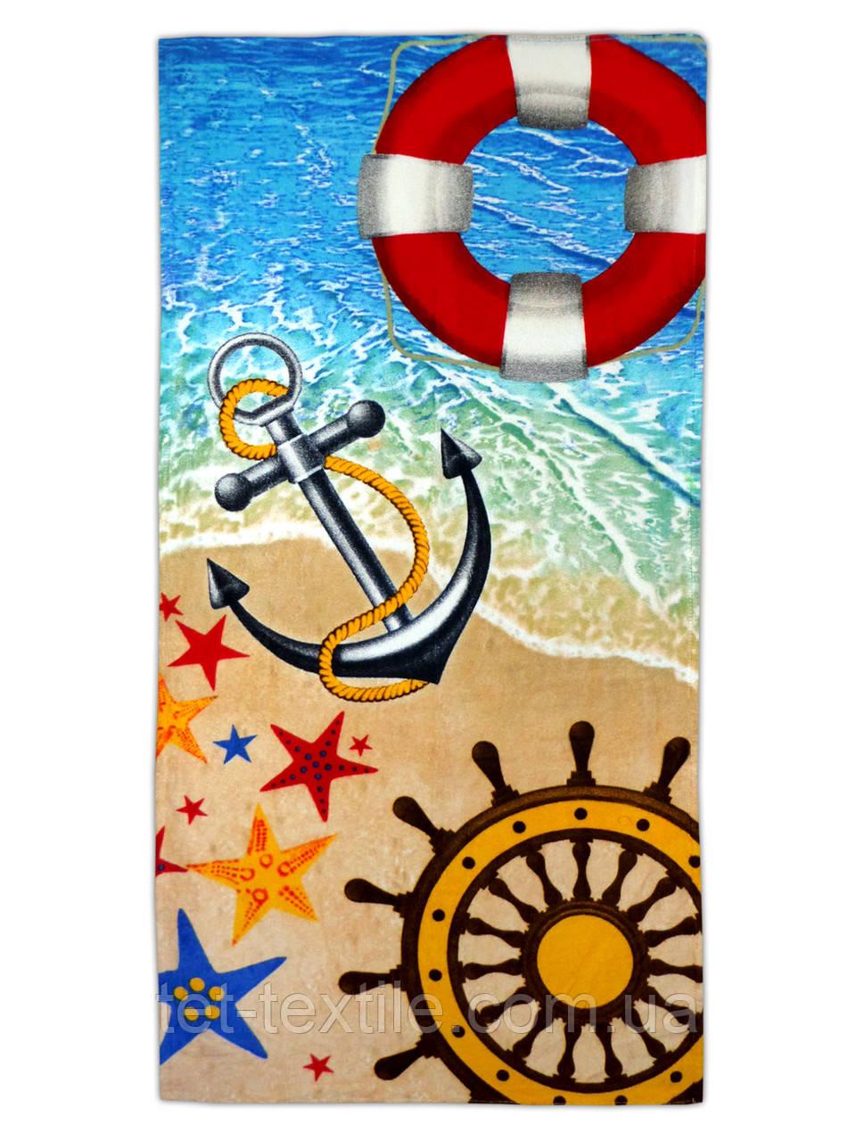 "Пляжное полотенце ""Море, песок "" 70х140см."
