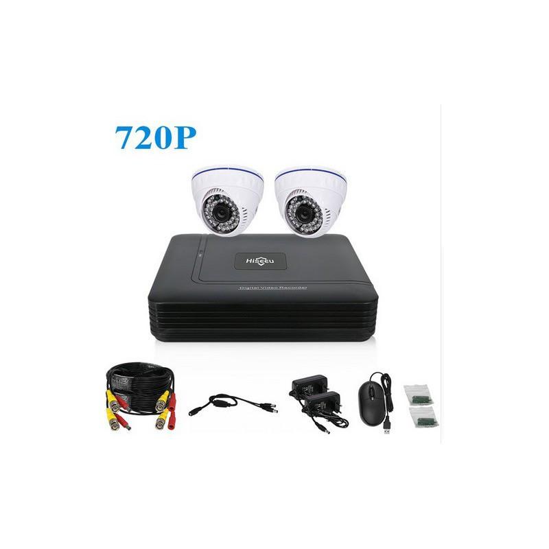 Комплект видеонаблюдения Hiseeu 2ch AHD-1MP 720P Home (2AHCR510)