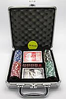 Покерный набор в кейсе (2 колоды карт +100 фишек) (CBA201 100)(23х25х8 см)
