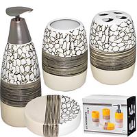 Набор аксессуаров для ванной комнаты 4 пр Альпы Snt 888-016