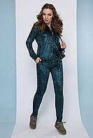 Спортивный костюм женский велюровый серый/бордовый/черный/изумрудный/синий