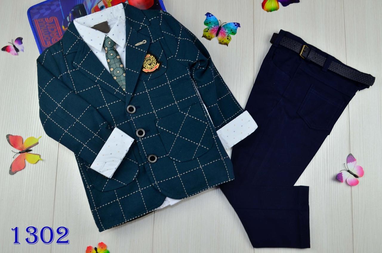 Нарядный костюм тройка котонновый на мальчика джентельмен 5 лет