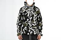 Куртка-анорак мужская камуфляжная White camo №1 (Вайт Камо) для рыбалки и охоты - M, L, XL