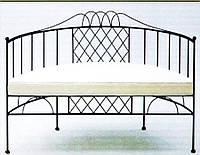 Кованый диван с дугообразной спинкой для посетителей  12(с мягким сидением)